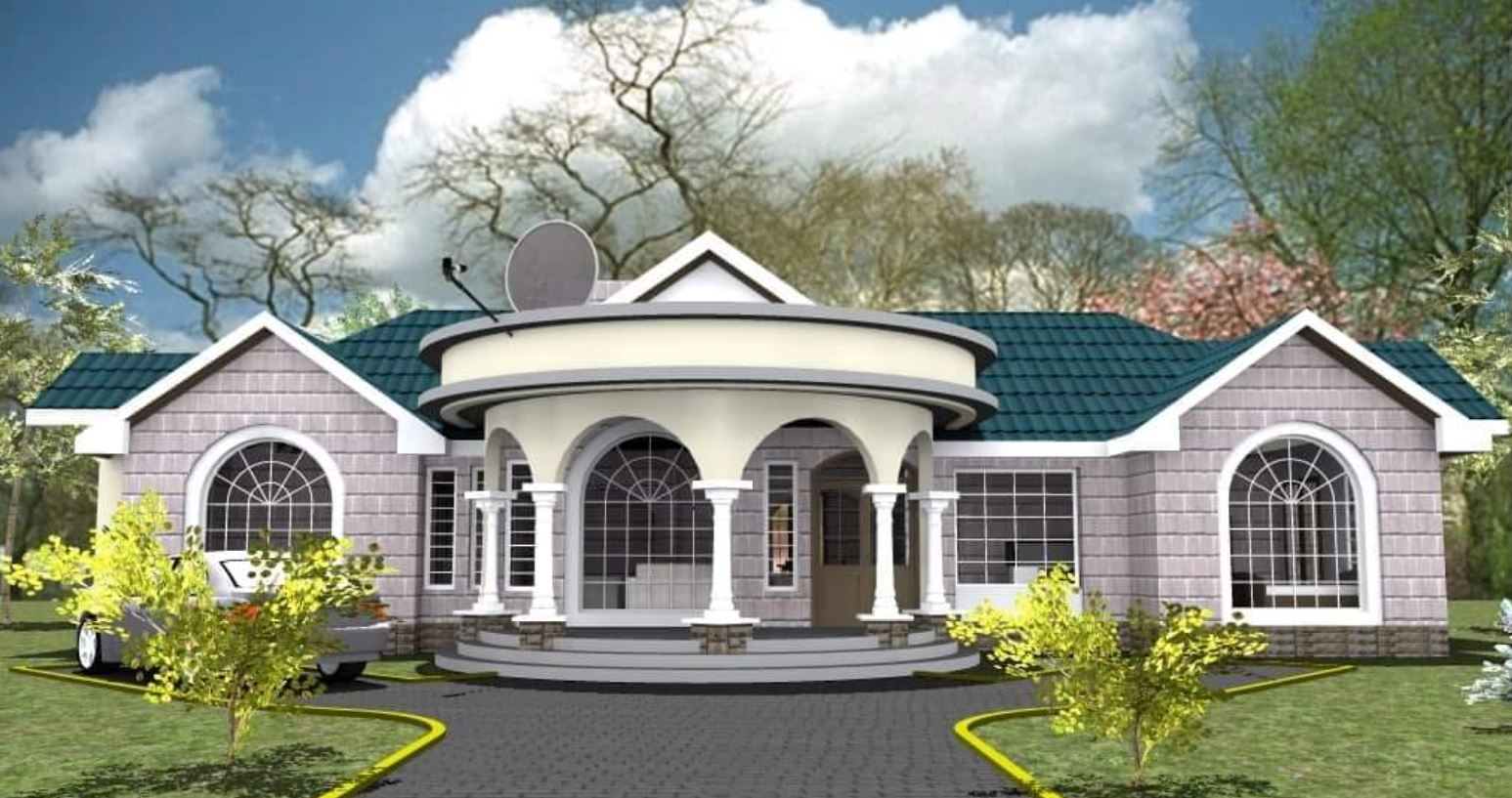 Top 10 Best Modern House Plans In Kenya You Must Consider,2 Chandelier Over Dining Table
